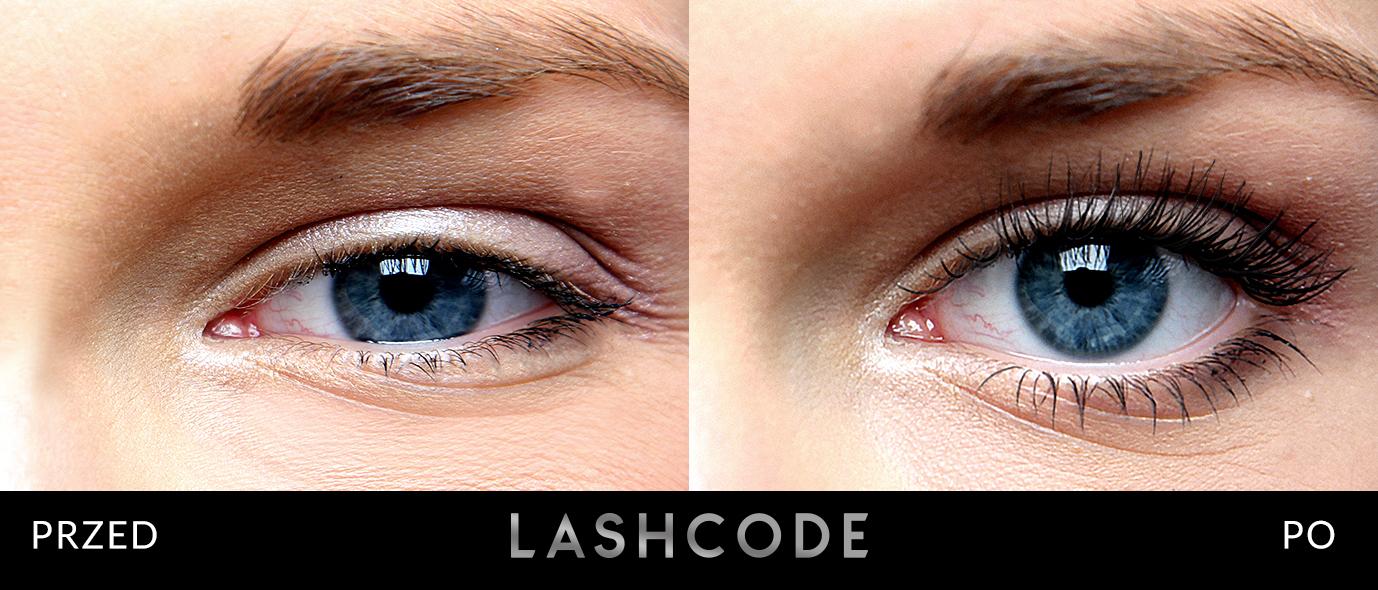 Lashcode przed po
